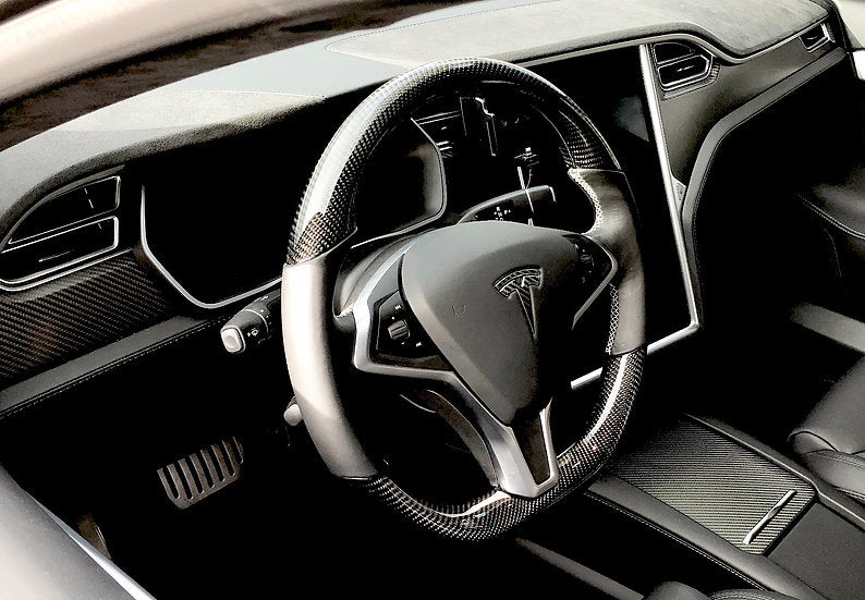 Model S & X Carbon Fiber Steering Wheel ( $995 ) Glossy Finish