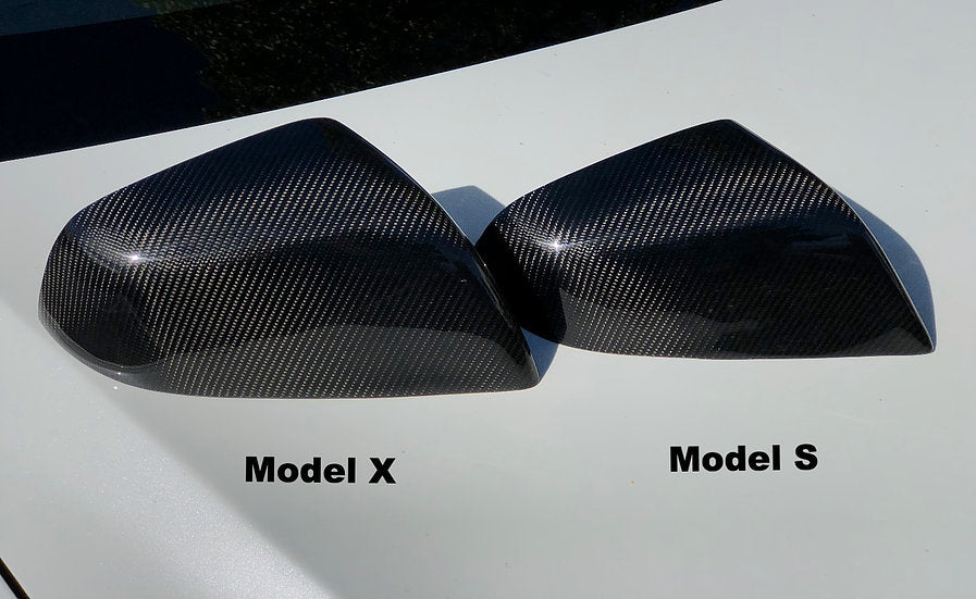 Model X Carbon Fiber Mirror Caps (Only $129 with 20% Off)
