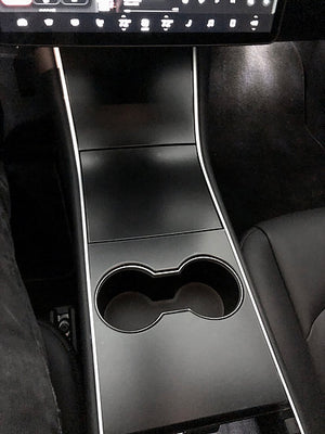 Model 3 Console - Matte Black Urethane PPF Xpel Stealth