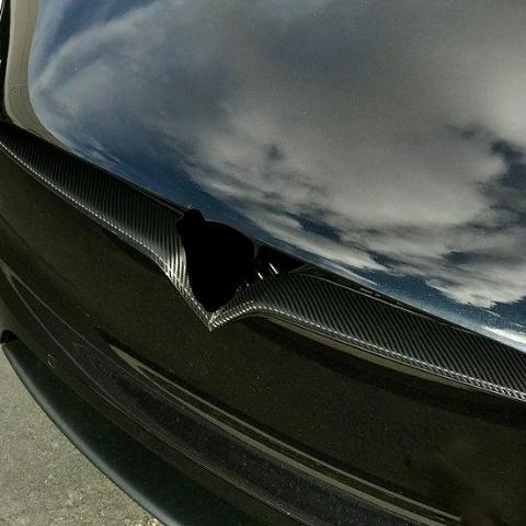 Model S Nose Inlay Wrap for Refreshed Front End