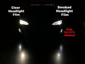Model S Headlight Protection Film (Clear or Smoked) Set of 4
