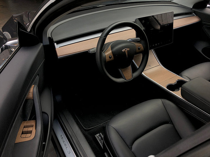 Model 3 & Y Vinyl Wood Console Wrap  Gen 2 ($69 w/ 20% OFF)