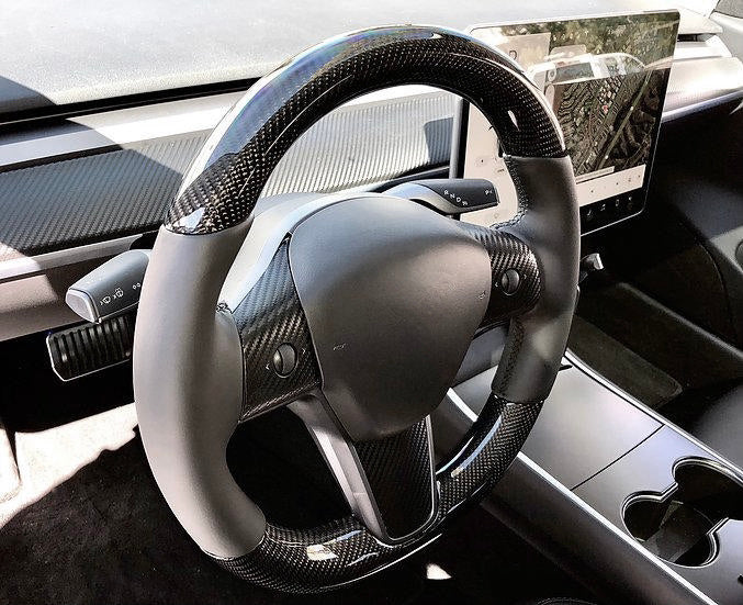 Model 3 - Carbon Fiber Steering Wheel Only $999 (w/ 20% Off )