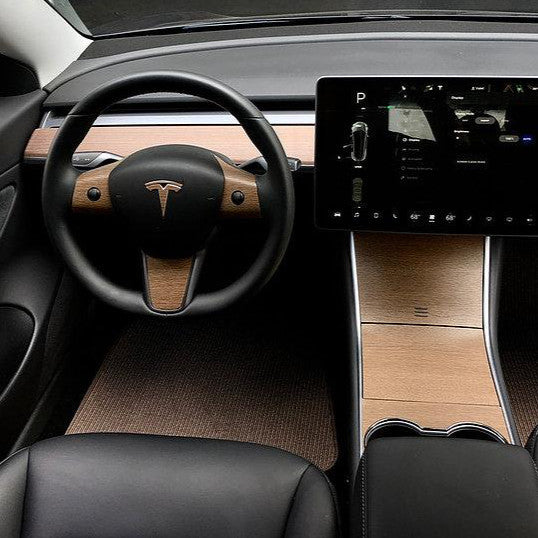 Model 3 Vinyl Wood Console Wrap  Gen 2 ($69 w/ 20% OFF)
