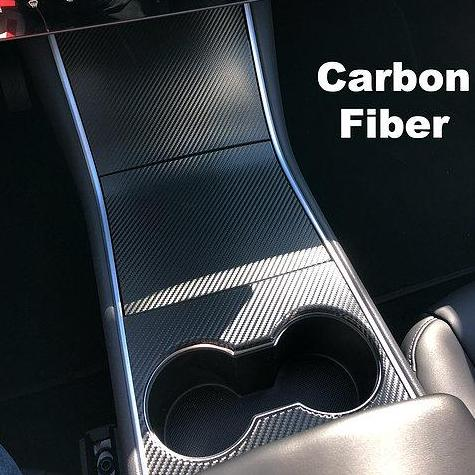 Model 3 Carbon Fiber Molded Center Console Cover - $159 or $189