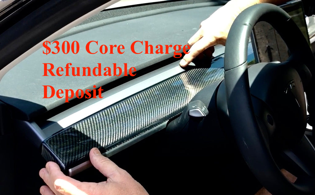 Model 3 Carbon Fiber Dashboard Cap -Core Charge DEPOSIT ONLY