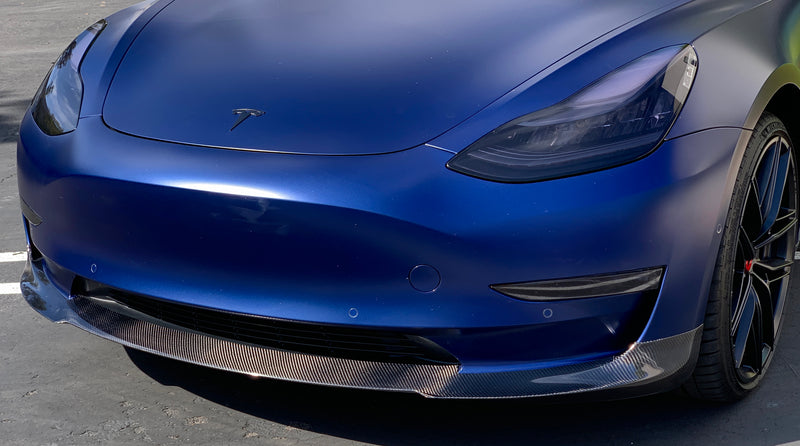 Model 3 Carbon Fiber Front Lip Spoiler - From $395 Installed
