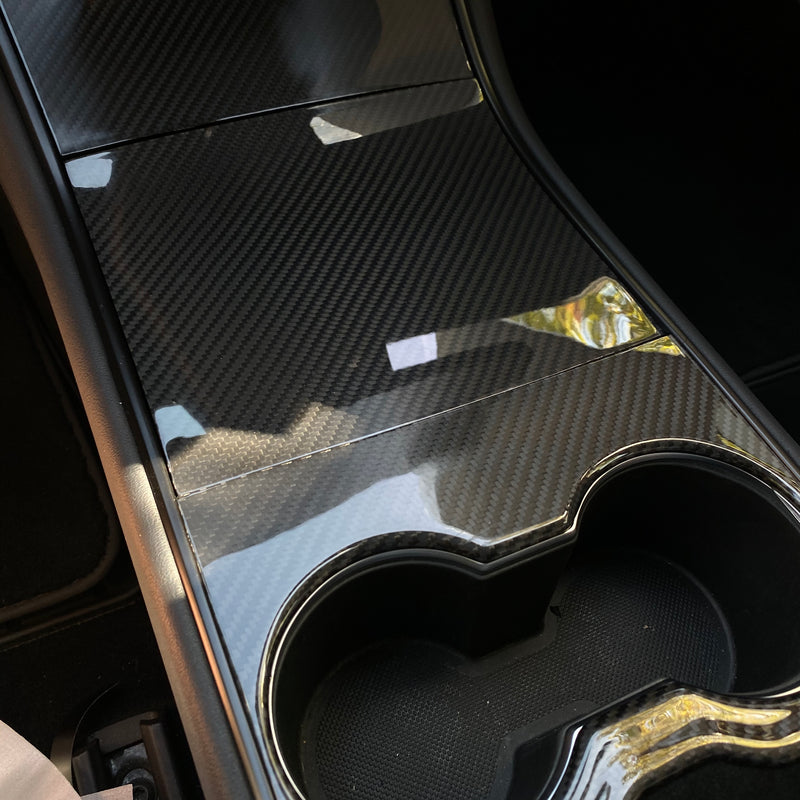 Model 3 Center Console Carbon Fiber Molded Cover Gen. 2 - From $ 199