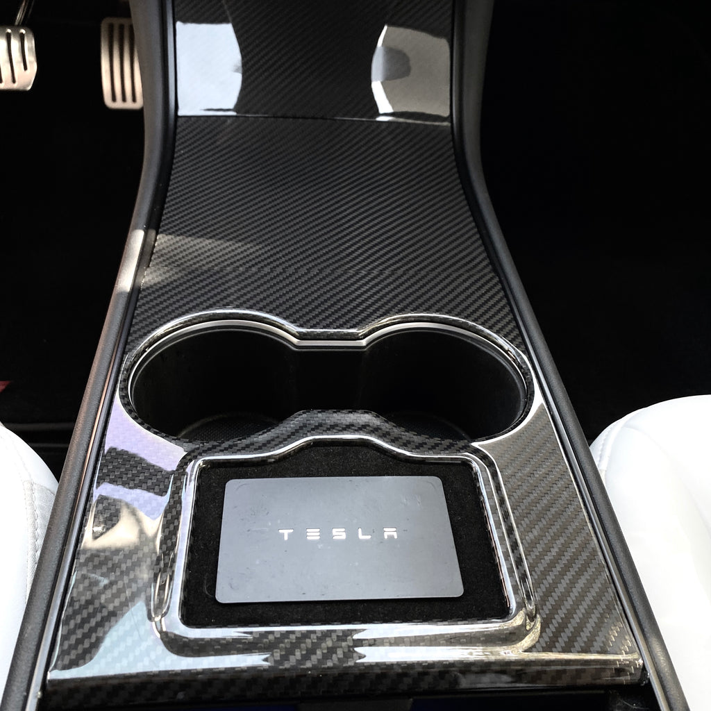Model 3 & Y Center Console Carbon Fiber Molded Cover Gen. 2 - From $ 199