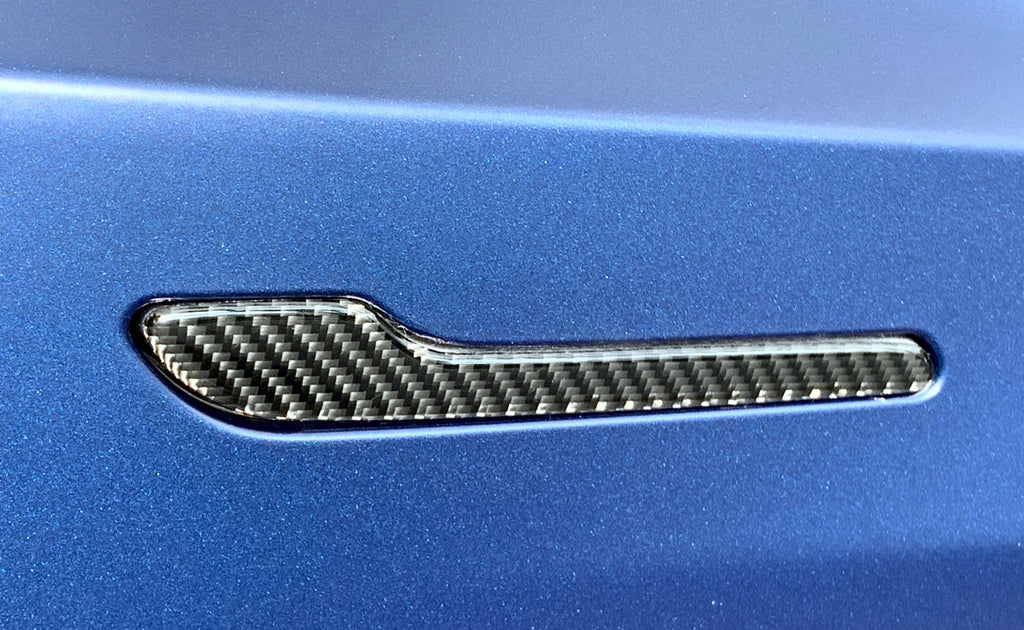 Model 3 Molded Carbon Fiber Door Handle Covers ($29 w/ 20% OFF)
