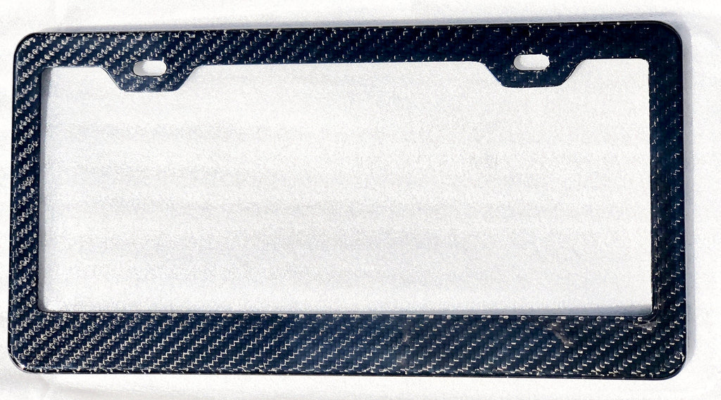 100% Carbon Fiber License Frame With Glossy Finish