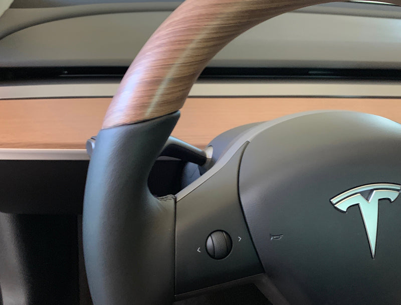 Model 3 & Y - Open Pore Wooden Steering Wheel Only $999