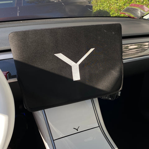 Model 3 & Y Backseat Center Console Base Cover - Carbon Fiber or White Pearl $89