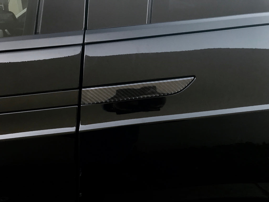 Model X Molded Carbon Fiber Door Handle Covers ($29 w/ 20% OFF)
