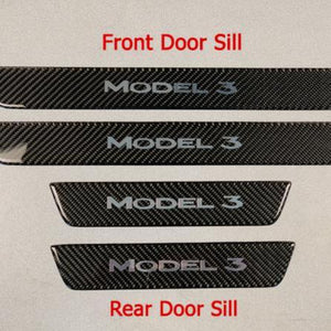 Model 3 Molded Carbon Fiber Rear Door Sill Covers ($25 with 20% off)