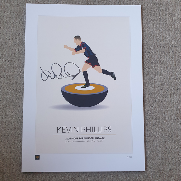 Kevin Phillips Signed Limited Edition 100th Sunderland Goal Print