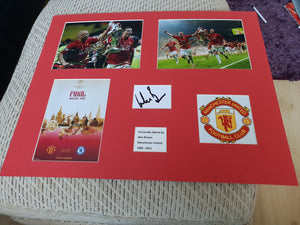 Signed Mounted Display Wes Brown Man Utd
