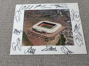 Signed Mounted Display Sunderland AFC Stadium of Light Multi Signed