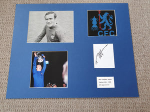 Signed Mounted Display Ron Harris Chelsea 1970 FA Cup winner
