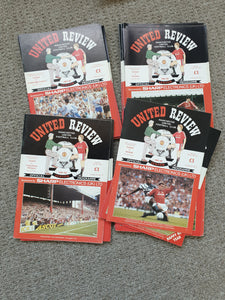 Manchester United Home Programmes 1991/92 COMPLETE