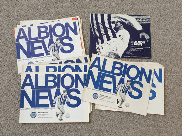 West Bromwich Albion Home 1969/70 COMPLETE