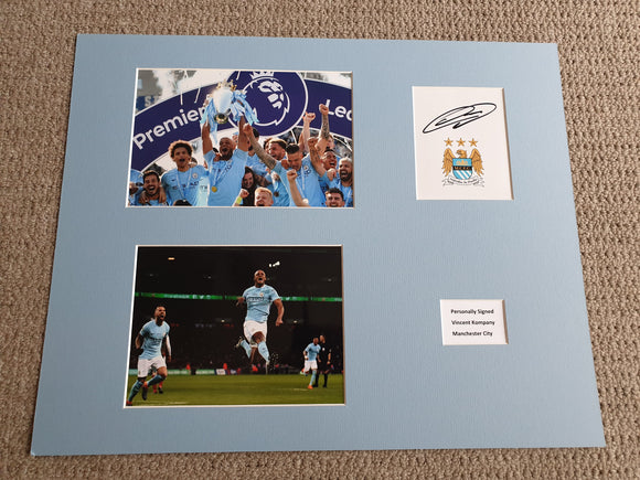 Signed Mounted Display Vincent Kompany Manchester City