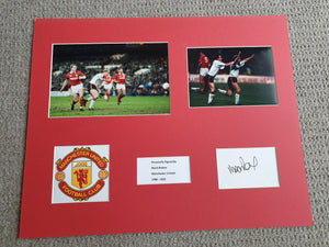 Signed Mounted Display Mark Robbins Manchester United