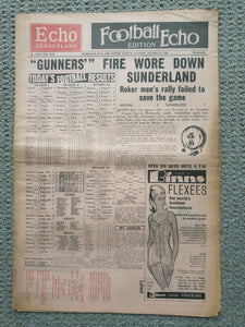 Football Echo 14th October 1967 Sunderland v Arsenal