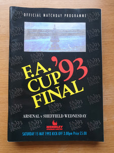 1993 FA Cup Final Arsenal v Sheffield Wednesday