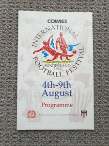 Match Programme Festival of Football 1991 Youth tournament at Sunderland