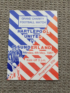 Match programme Hartlepool Utd v Sunderland 4th May 1981