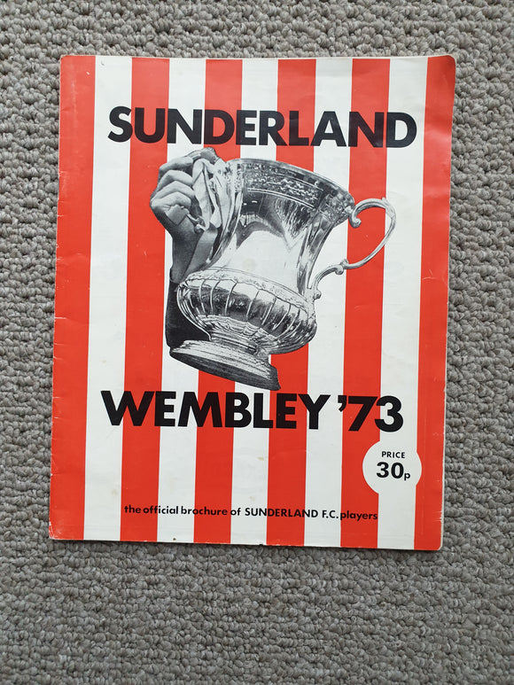 Wembley 1973 Sunderland Official Players Brochure