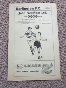 Match Programme Darlington FC v Workington 1960/1
