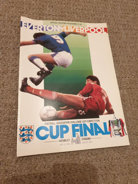 Match Programme Liverpool v Everton 1986 FA Cup Final