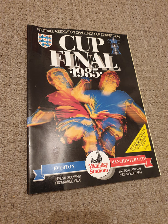 Match Programme Everton v Manchester United 1985 FA Cup Final