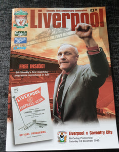 Match Programme Liverpool v Coventry City 1999/00 Bill Shankly Special Edition