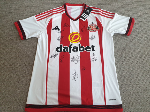 Sunderland Home Shirt 2015/16 SIGNED
