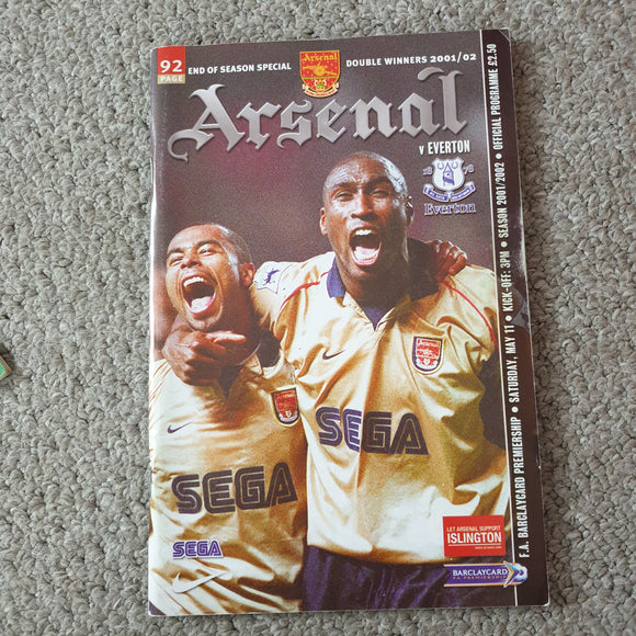 Match Programme Arsenal v Coventry City 2001/02 Special title winning issue