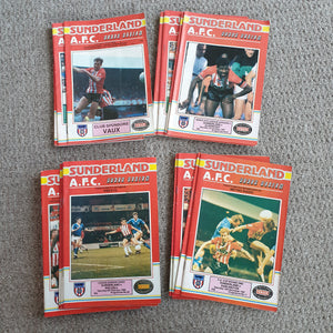 Sunderland 1987/88 Complete set of Home League & Cup Match Programmes