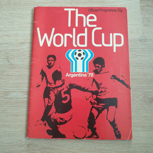 1978 World Cup Programme Argentina