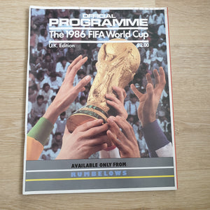 1986 World Cup Programme Mexico