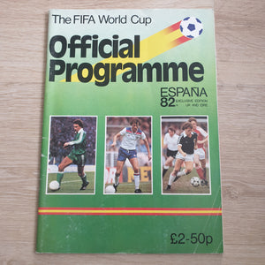 1982 World Cup Programme Spain