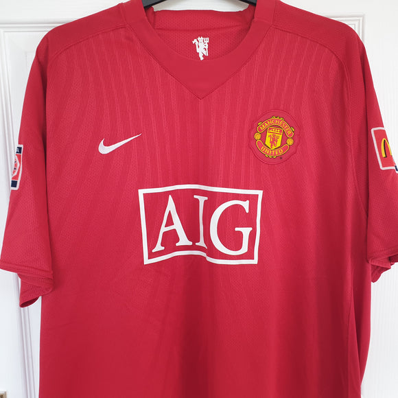 Manchester United 2007/09 Home Shirt #32 Tevez