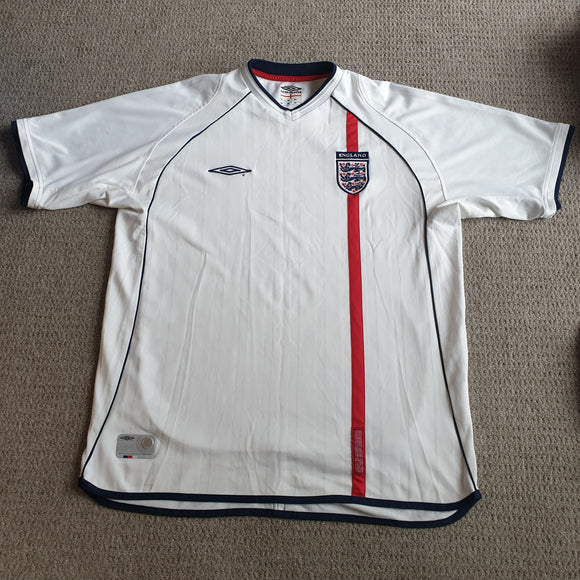 England Home Shirt 2001/03 XL