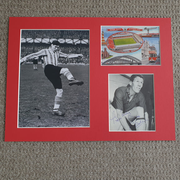Signed & Mounted Len Shackleton Sunderland 1947 - 1958