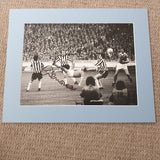 Signed & Mounted Dennis Tueart Manchester City 1976 League Cup Final