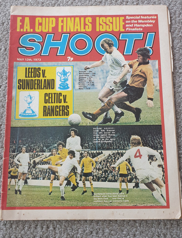 Shoot Magazine 1973 FA Cup Final Issue