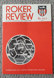 Match Programme Sunderland v Luton Town 1972/3 League Game