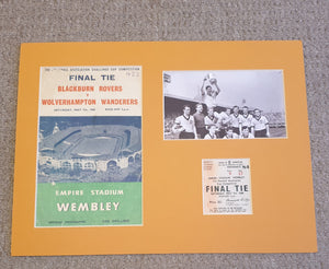 1960 FA Cup Final Wolves programme and ticket display