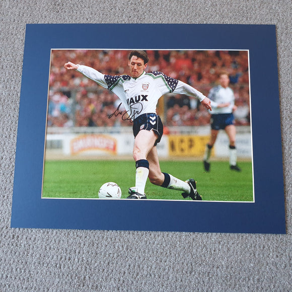 Signed & Mounted Peter Davenport Sunderland Wembley 1992 Print
